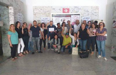 صحفيّو وكالة تونس افريقيا للأنباء ينفذون وقفة احتجاجية-التيماء