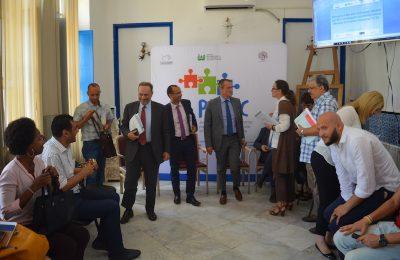 زيارة وفد من الوكالة الايطالية للتعاون والتنمية الى مركز دار العربي بمنوبة-التيماء