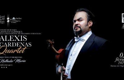 مسرح الأوبرا:حفل الموسيقى اللاتينية الكلاسيكية بمشاركة عازف الكمان الفينزويلي ألكسيس كارديناس ورباعيته قيادة الأركستر: ناتالي مارين الأربعاء 05 فيفري 2020 -التيماء