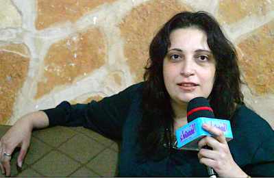 المخرجة السينمائية المصرية نانسي كمال في الحامة-التيماء
