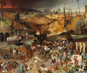 """لوحة """"رقصة الموت"""" الشهيرة للرسام الهولندي بيتر بروغيل"""