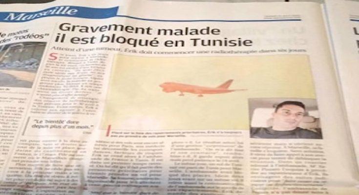على أعمدة صحف فرنسية: شاب فرنسي في حالة صحية حرجة معلق في تونس-التيماء
