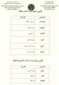 الفائزون بجائزة الباحث الشاب 2020 (1)