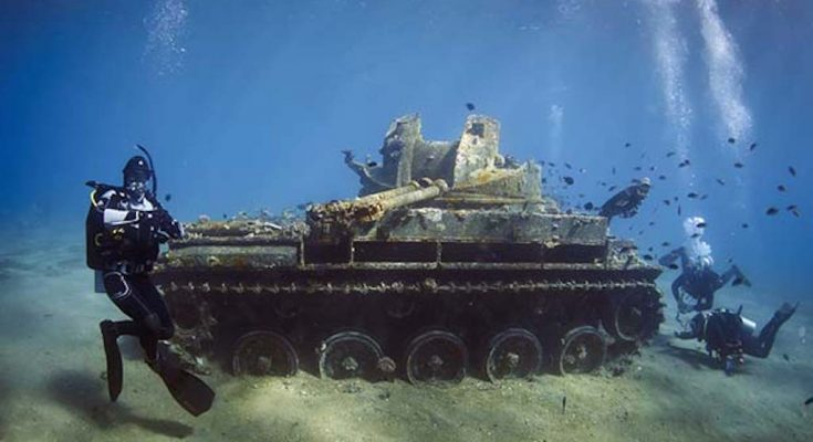افتتاح أول متحف عسكري تحت الماء في الأردن -التيماء