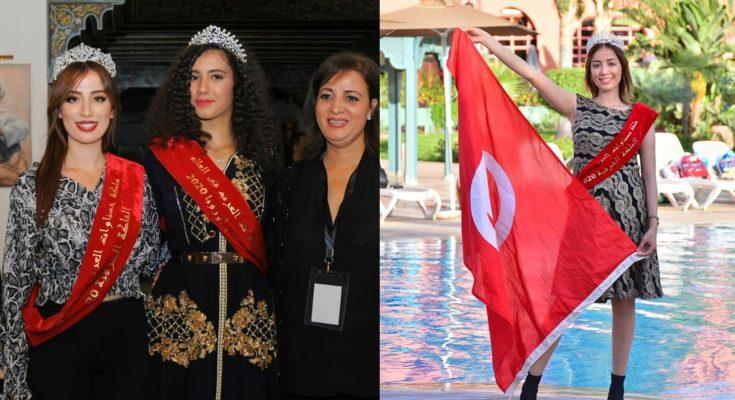 التونسية حنان شقير ملكة شرفية بمهرجان ملكة حسناوات العرب في العالم