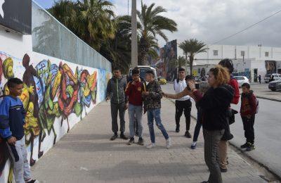 """الملتقى العالمي """"شكري بلعيد للفنون"""": بادرة روح من فناني الجرافتي لمنطقة جبل-التيماء"""